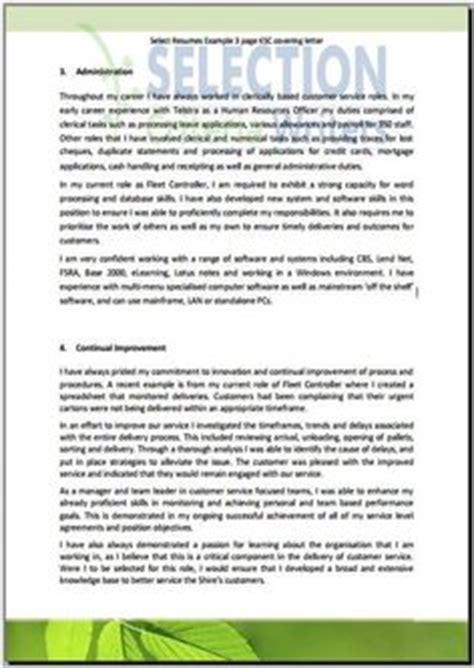 resume capability statement exles free selection criteria exles selection criteria government