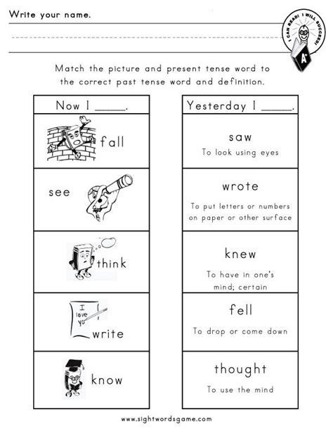 12 Best Images Of Irregular Verbs Worksheet Grade 3