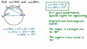 Video  Finding The Measure Of An Angle Given Its Arc U2019s
