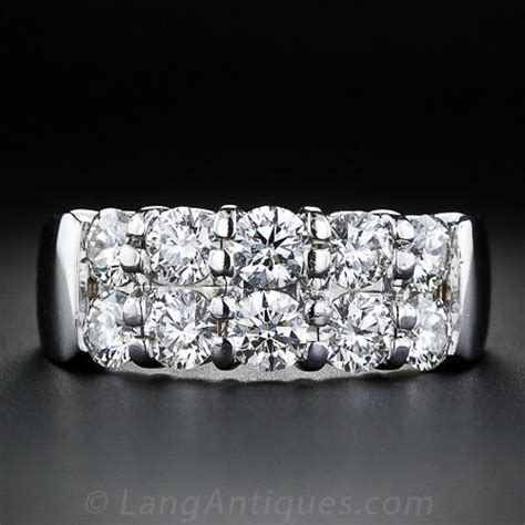 hearts  fire contemporary double row diamond band ring