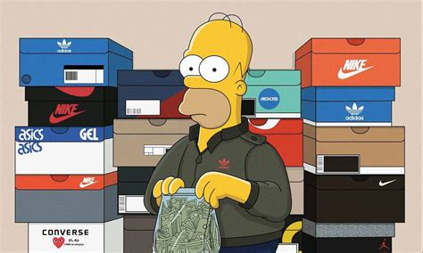 simpsons imagined  sneakerheads highsnobiety