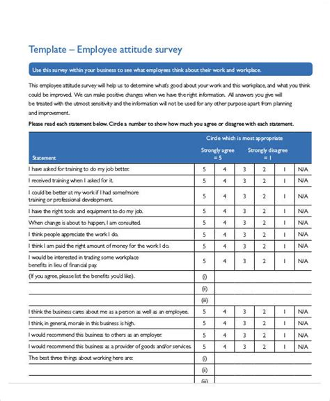 60+ Sample Survey Forms  Sample Templates