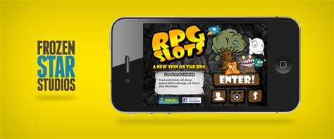 rpg slots iphone game ui design  frozen star games