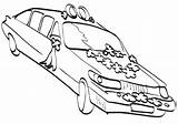 Coloring Limousine Limo sketch template