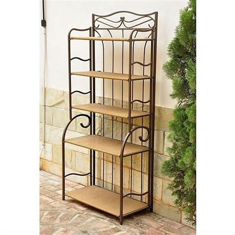 indoor outdoor 5 tier bakers rack 4116 sh