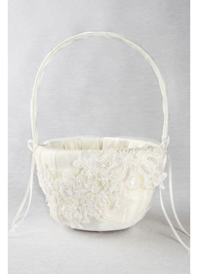 sea  petals flower girl basket davids bridal