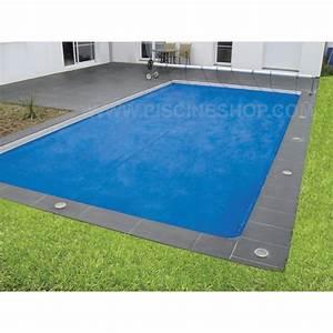 Bache À Bulles Piscine : couverture bulles piscine bleu duo 400 microns piscine ~ Melissatoandfro.com Idées de Décoration