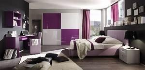 Dormitorios para chicas en color morado Dormitorios colores y estilos
