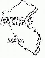 Peru Coloring Pages Haiti Flag Map Peruvian Drawing Printable Haitian Getcolorings Getdrawings sketch template