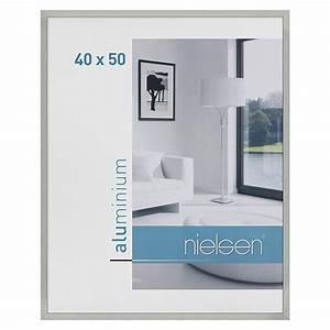 Bilderrahmen 50 X 40 : nielsen bilderrahmen c2 silber 50 x 40 cm aluminium 6743 alu wechselrahmen hfda ~ Yasmunasinghe.com Haus und Dekorationen