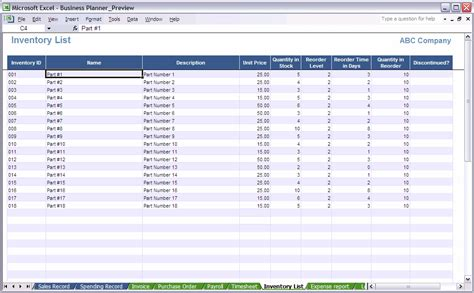 excel inventory template 6 inventory spreadsheet excel procedure template sle