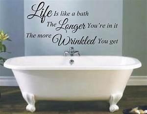 Funny bathroom vinyl wall quotes quotesgram for Bathroom funny videos