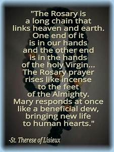 Best 25+ Rosary... Rosary Quotes