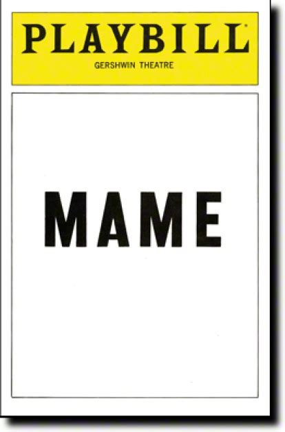 Playbill Template Mame Broadway Gershwin Theatre Tickets And Discounts