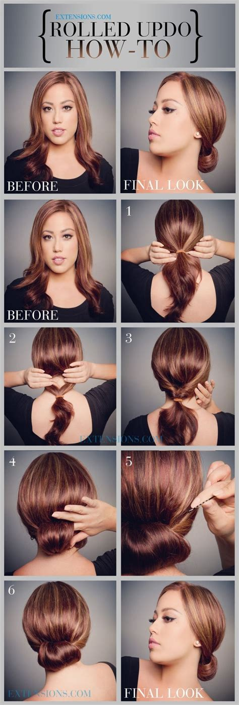 easy style for hair 12 trendy low bun updo hairstyles tutorials easy 5720