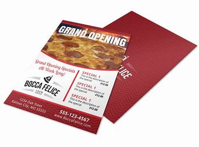 Flyer Opening Grand Restaurant Pizza Template Flyers