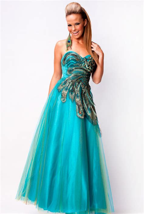 peacock blue prom dress fashion belief