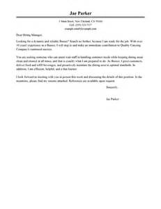 Leading Professional Busser Cover Letter Examples