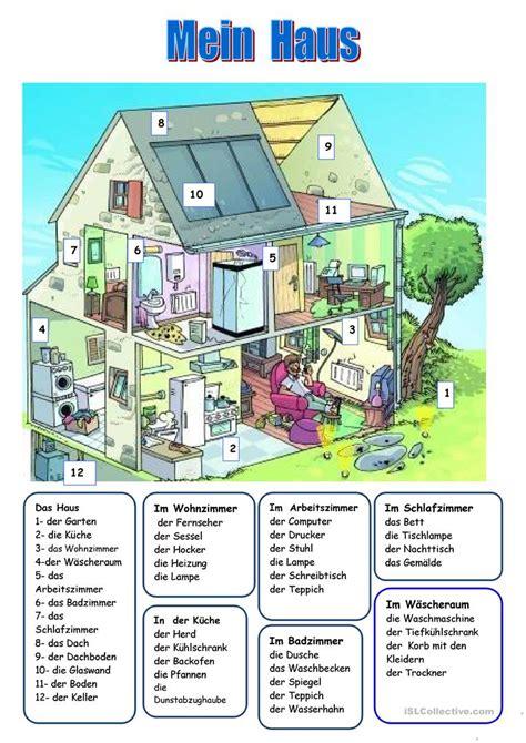 Das Haus Arbeitsblatt  Kostenlose Daf Arbeitsblätter