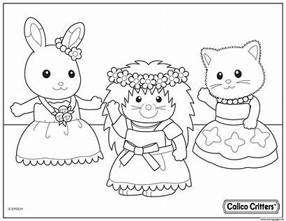 Coloring Critters Calico Party Dance Pages Printable