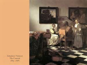 Painting by Vermeer the Concert