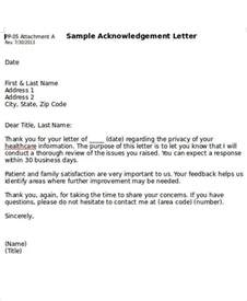 5 business acknowledgement letter templates 5 free word