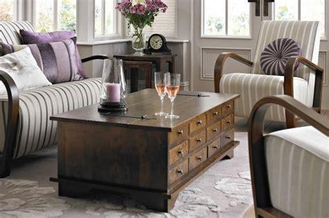 Laura Ashley  Garrat Chestnut 12 Drawer Coffee Table