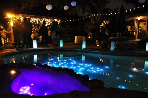 string lights pool submersible lights in the pool with luminary hurricanes