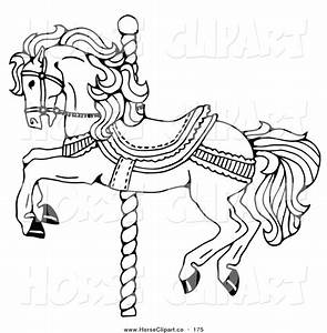 carousel horse coloring pages carousel horse decorated With merry go round horse template