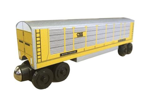 csx autorack  whittle shortline railroad wooden toy