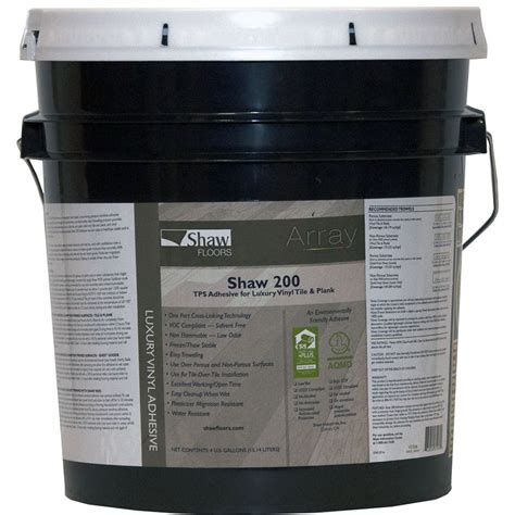 shop shaw clear flooring adhesive 4 gallon at lowes