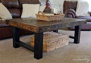 remodelaholic diy simple wood slab coffee table With easy to build coffee table