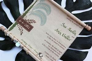 scroll wedding invitations printed on canvas fabric With wedding invitations printed on fabric