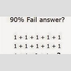 90% Fail Answer  1 + 1 + 1 + 1 + 11 + 1 + 1 + 1 + 11 + 1 * 0 + 1 = ?  Whatsapp Puzzles World