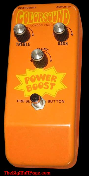 colorsound overdriver  power boost