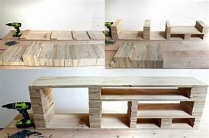 fabriquer un meuble tv instructions et modeles diy With fabriquer des meubles en bois soi meme