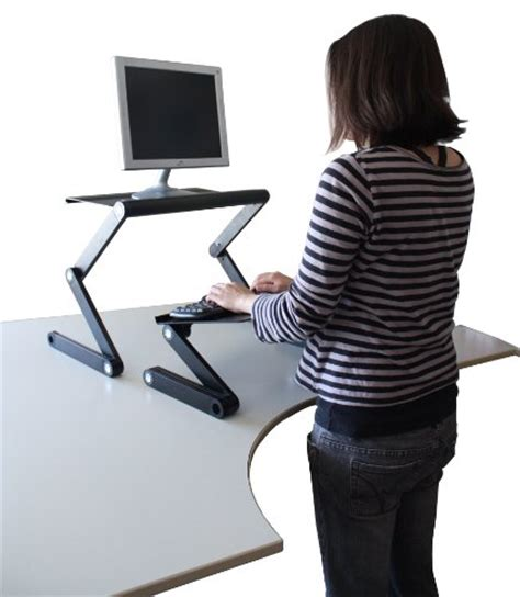 Best Standing Desk Converter For Laptop by Workez Standing Desk Conversion Kit Adjustable Ergonomic
