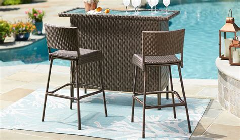 Bar Set by Outdoor Bar Furniture The Home Depot