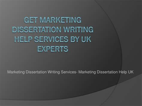 How To Select A Topic For Dissertation- Marketing