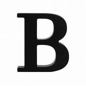 Wooden letter B, black