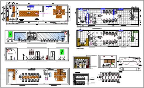 meeting room interior design  corporate office dwg file