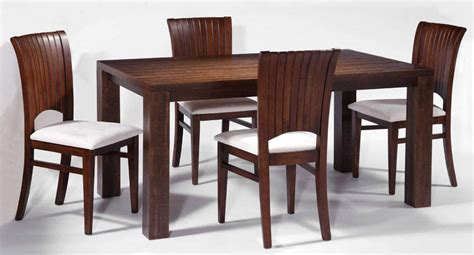 wooden dining room sets with white seating and 4 chairs
