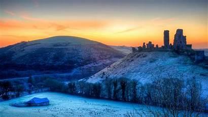 Bing Wallpapers Corfe Sunrise Castle England Landscape