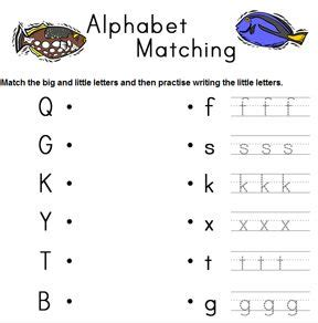 alphabet matching worksheet generator a different one every time you refresh the page