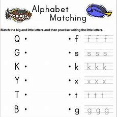 Alphabet Matching Worksheet Generator, A Different One Every Time You Refresh The Page