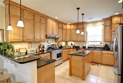 oak kitchen island with granite top 40 inviting contemporary custom kitchen designs layouts