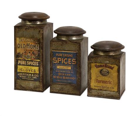 metal kitchen canisters addie vintage label wood and metal canisters set of 3 modern kitchen canisters and jars
