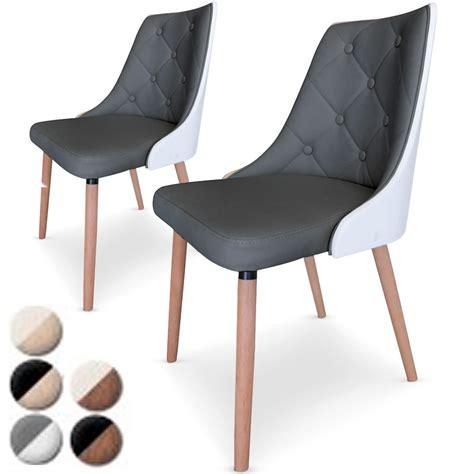 chaise cuir gris chaise simili cuir gris maison design wiblia com
