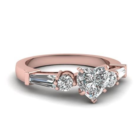rose gold rings rose gold rings 3 diamonds