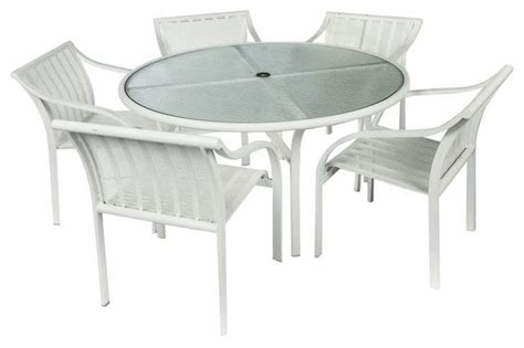 white aluminum patio furniture sets sold out tropitone aluminum white outdoor dining set